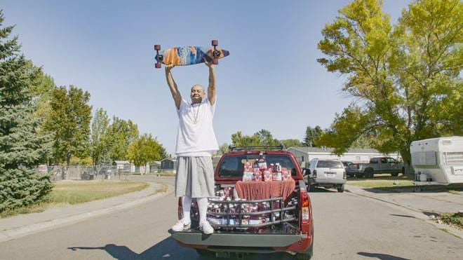 TikTok star Nathan Apodaca, 37, was visited by a representative from Ocean Spray with a 2020 Nissan Titan PRO-4X and a trunk full of Ocean Spray.