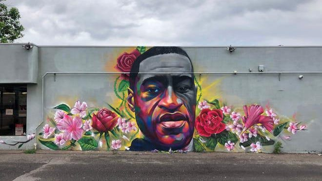 "Thomas ""Detour"" Evans and Hiero Veiga's mural of George Floyd helped kickstart the artists' ""Spray Their Names"" initiative."