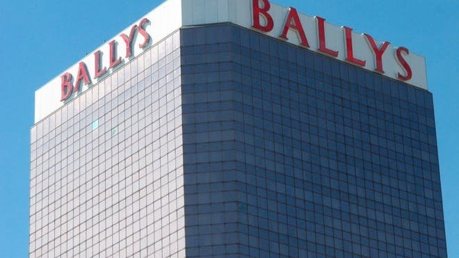 This Oct. 1, 2020, photo shows the exterior of Bally's casino in Atlantic City, N.J.
