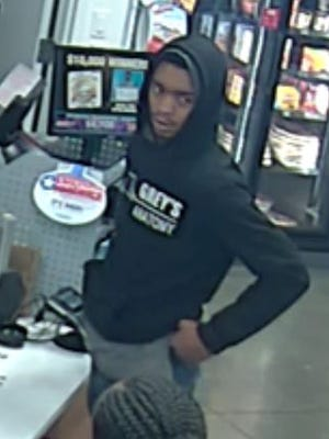 Coralville police are seeking to identify this man, who is suspected of carrying out a car burglary and credit card fraud last month.