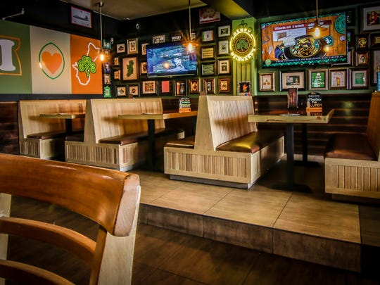Dining area at Shamrocks Pub & Eatery.