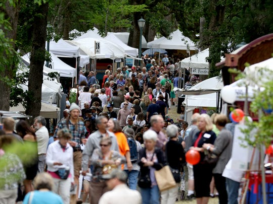 The 67th annual Salem Art Fair and Festival at Bush's Pasture Park in Salem on Saturday, July 16, 2016. The event continues on Sunday from 10 a.m. to 5 p.m.