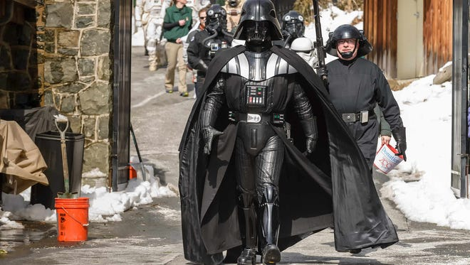 Garrison Carida, a local chapter of the Lucasfilm-endorsed costuming organization 501st Legion, will be at Westown Movies in Middletown Saturday.