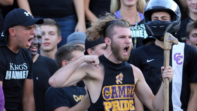 Camel fans get fired up in the first half in the game against Highlands.