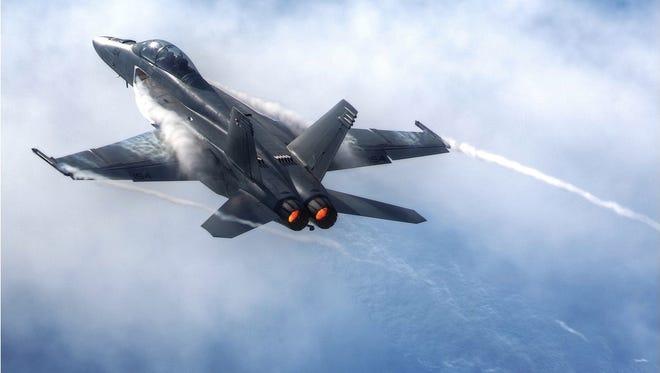 The U.S. Navy F/A-18F Super Hornet will be at the OC Air Show this year.