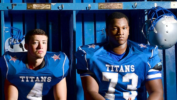 McDowell's Tyler Banks, left, and Isaiah Burch.