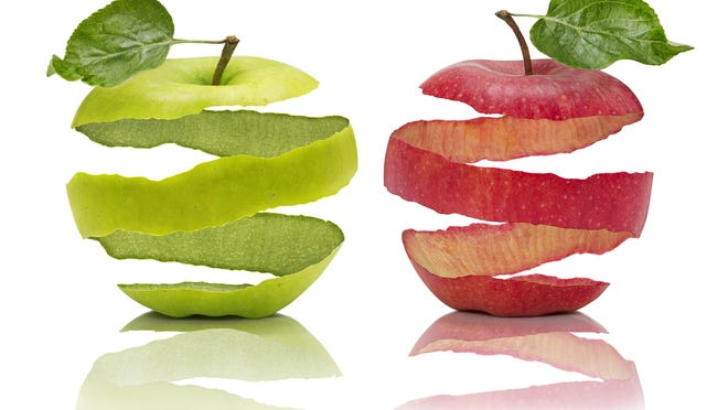 In both apples and pears, most of the phytonutrients are located in the skin which is why eating the skin is a good idea. The fiber and other nutrients in these fruit can reduce the risks for heart disease, stroke and diabetes.