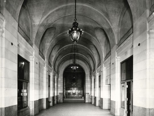 The arcade at the Michigan Central Station, date unknown.