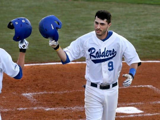 MTSU's Austin Bryant celebrates the second home run
