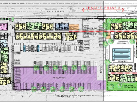 Aerial floor plans for proposed phase 2 of 608 Main