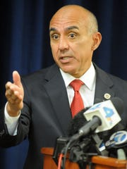 San Bernardino County District Attorney Mike Ramos, pictured at a press conference,  said he cautioned his counterparts in Riverside County about the need to personally approve wiretap requests.