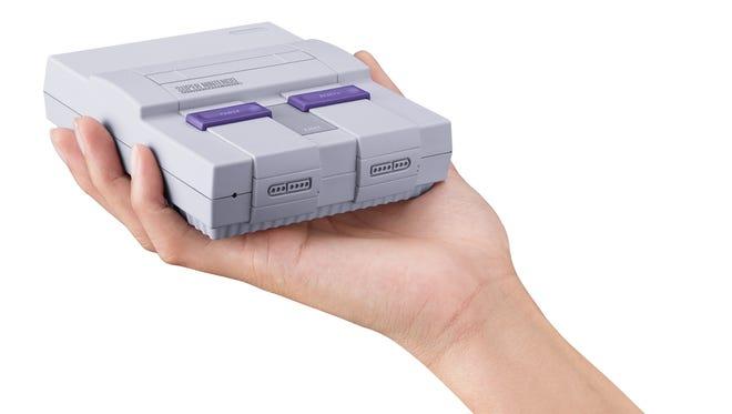 The miniature Super NES Classic Edition.