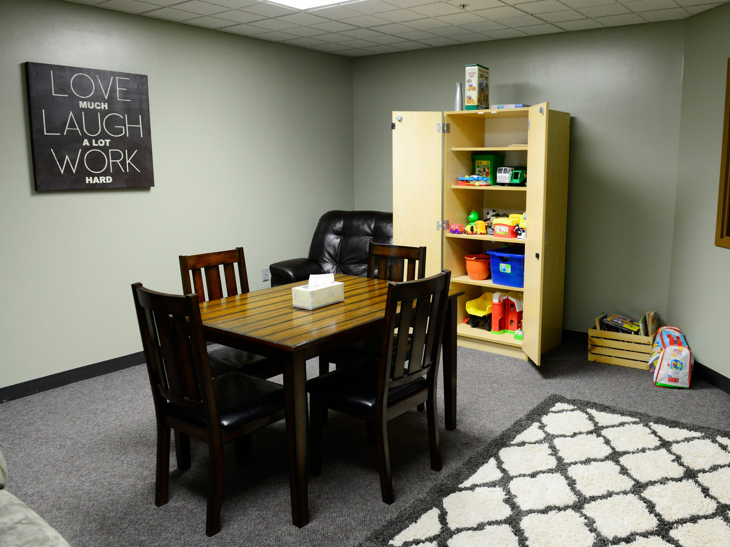 Visitations between parents and children at Sandusky County Children Services are recorded on video.