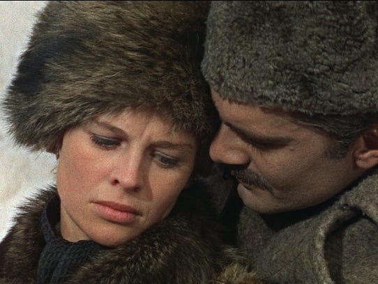 Russian romance: Julie Christie and Omar Sharif in