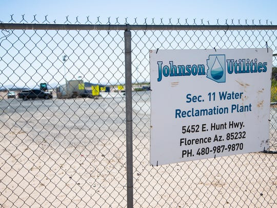 The Johnson Utilities Water Reclamation Plant in Florence is only a few blocks from where Matt O'Connell lives with his wife and his two children at the Oasis Magic Ranch development. O'Connell and neighbors have had problems with low water pressure, backed-up sewage from manhole covers and noxious fumes being emitted from the sewage treatment plant.