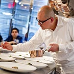Chef Cesar Ramirez at the Chef's Table at Brooklyn Fare in New York.