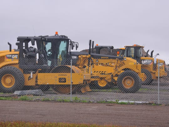 Heavy equipment is in place as workers construct the diverging diamond interchange at Interstate 95 and Viera Boulevard.