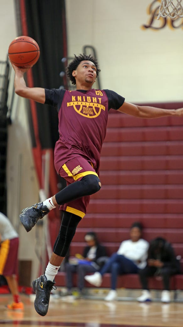 Mount Vernon senior Jason Douglas-Stanley during basketball