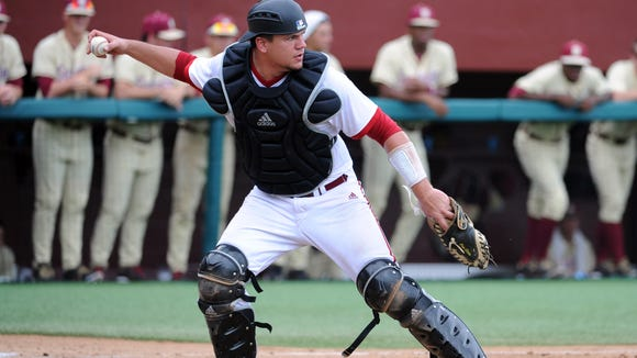 Indiana Hoosiers catcher Kyle Schwarber in June of 2013.
