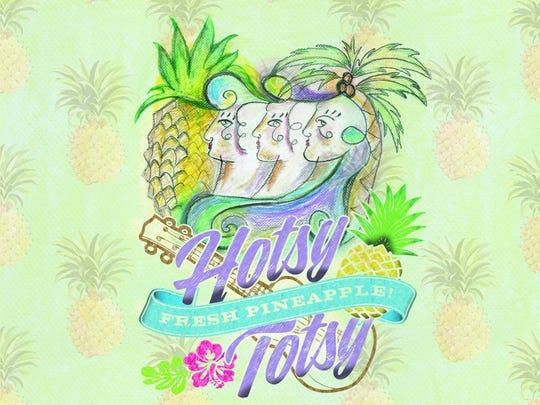 Cover art for Hotsy Totsy's new album titled 'Fresh Pineapple!'