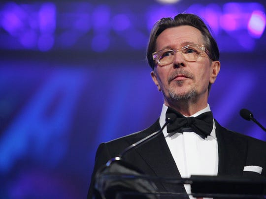 "Gary Oldman accepts the international Film Star Award for his work in ""Tinker, Tailor, Soldier , Spy"" at the 2012 Palm Springs International Film Festival Awards Gala on Saturday, January 7, 2012 at the Palm Springs Convention Center. (Richard Lui The Desert Sun)"