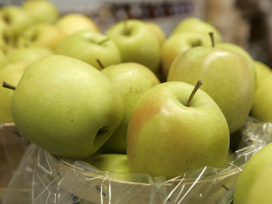 Golden Delicious apples are just one of the 18 varieties for sale at Salinger's Orchard.