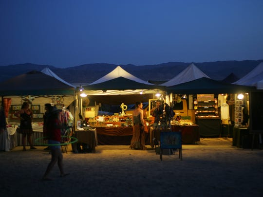 he Joshua Tree Music Festival is held at the Joshua Tree Lake Campground.