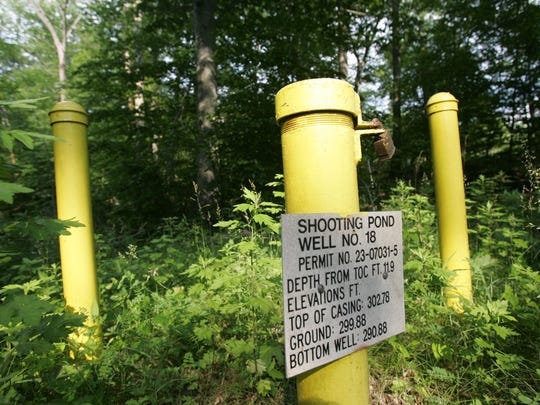 One of the test wells on the DuPont plant property, as seen in 2009.