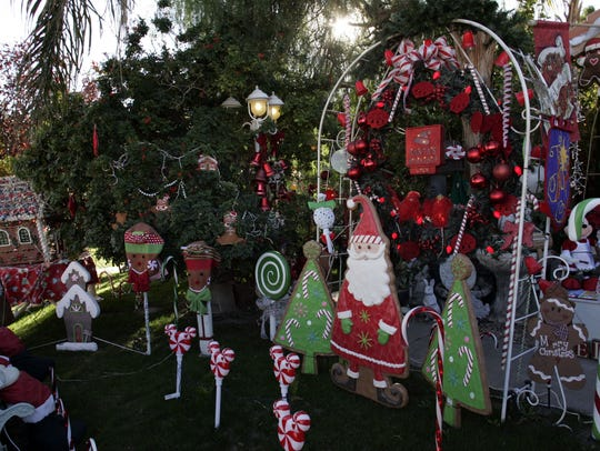 Decorating for the holidays, as done at this Coachella