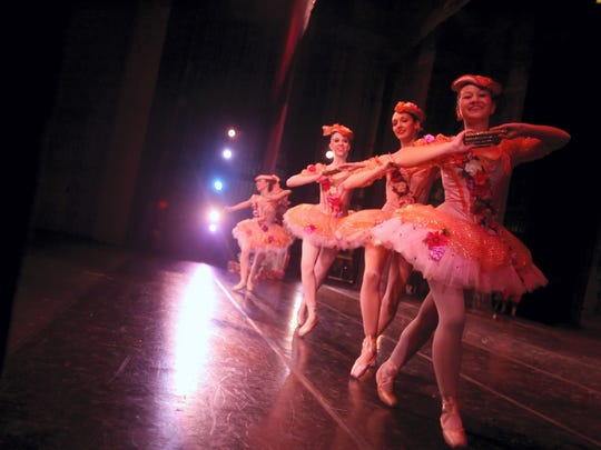 Dancers perform in the Corpus Christi Ballet presentation of The Nutcracker from backstage at the American Bank Center Selena Auditorium.