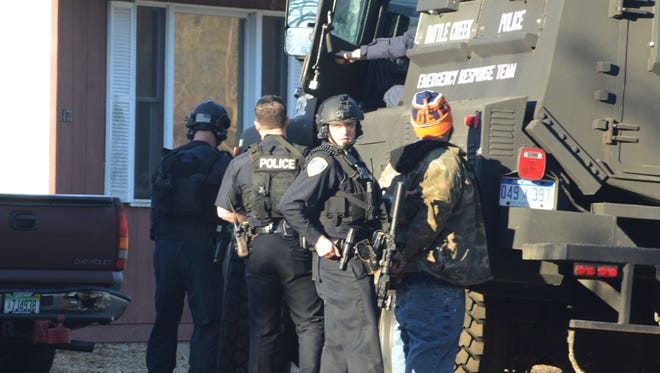 A man is arrested after Battle Creek officers raided his home Sunday.