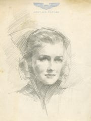 Moorehead Phillips, sketch of a nurse, 1944