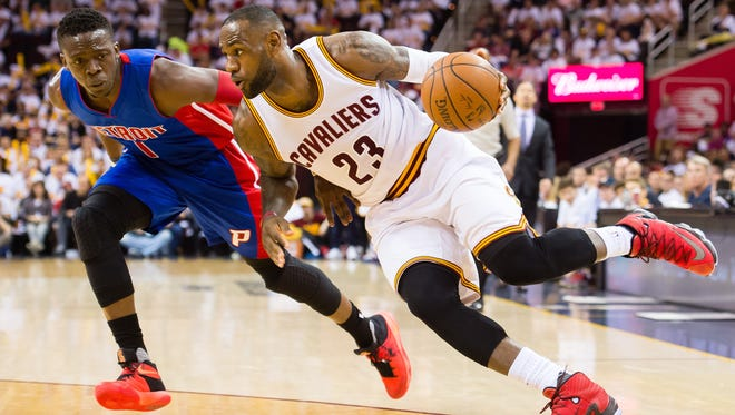 Cavs' LeBron James finished with 22 points in Game 1.
