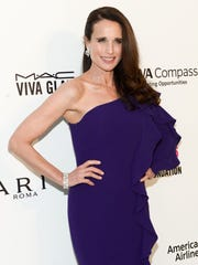 Actress Andie MacDowell  poses as she arrives to attend