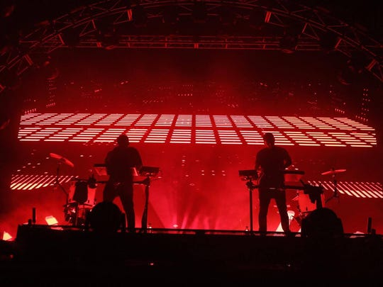 Odesza performs at the Lost Lake Festival in Phoenix, Sunday, October 22, 2017.