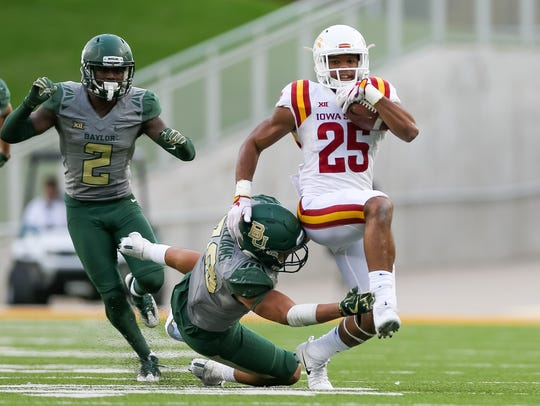 Nov 18, 2017; Waco, TX, USA; Iowa State Cyclones running