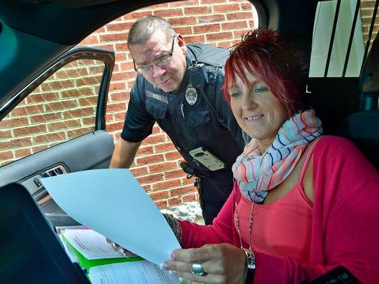 Kay Martin works with Greencastle K-9 patrolman Keith