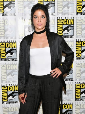 "SAN DIEGO, CA - JULY 21:  Actress Marie Avgeropoulos at ""The 100"" Press Line during Comic-Con International 2017 at Hilton Bayfront on July 21, 2017 in San Diego, California.  (Photo by Dia Dipasupil/Getty Images) ORG XMIT: 775007924 ORIG FILE ID: 820416752"