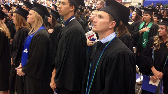 FGCU grads at their commencement.