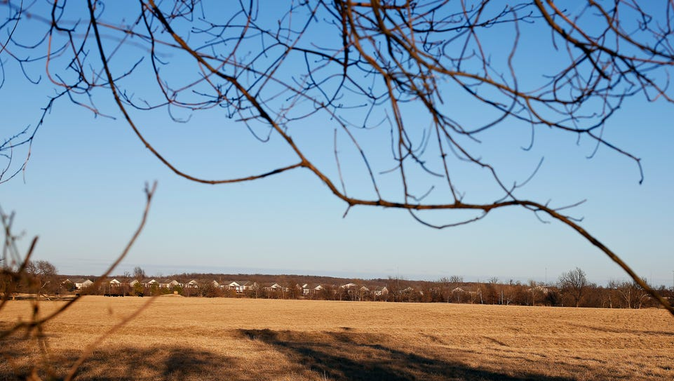 This tract of land in north Springfield, seen on Feb.