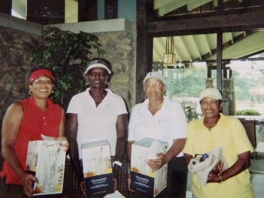 Dale Johnson, Ann Sanders, Juanita Norwood and Ethel Lee at the Par Four Annual Tournament.