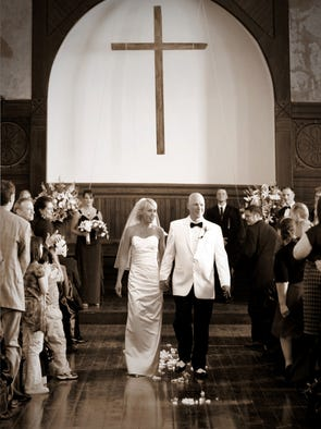 behind the lens of a wedding photographer
