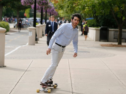 a315d4ad9ba3 Student engineers turn electric skateboard into business
