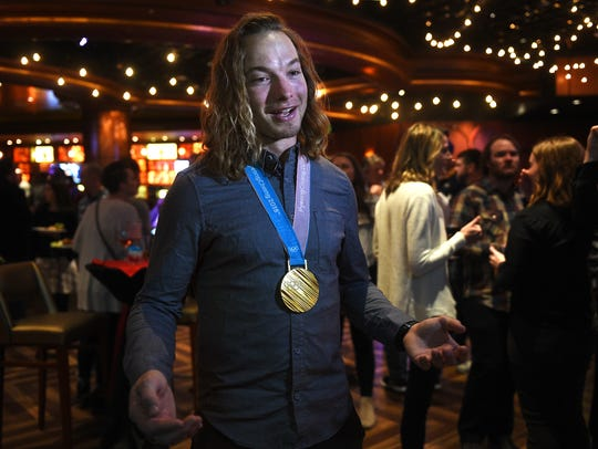 Olympic champion and Reno local David Wise sports his