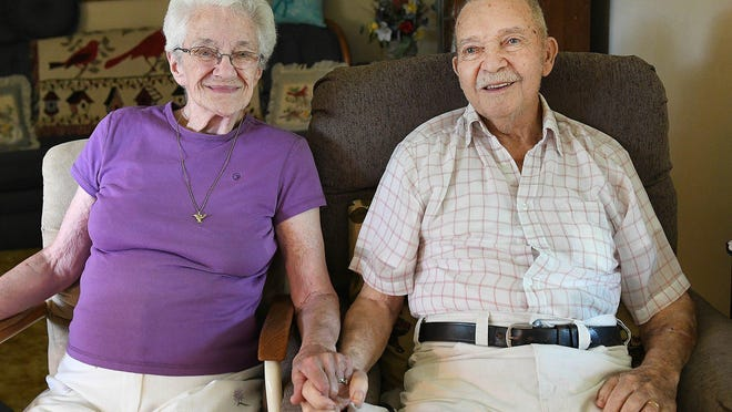 Audrey and Leslie Wade of Paris Township celebrated 70 years of marriage with a family gathering on Thursday.