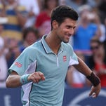 Novak Djokovic beat Richard Gasquet on Friday at the Rogers Cup.
