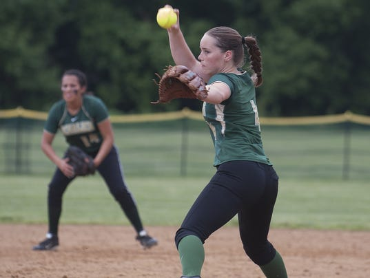 Schalick's Gracie Meyer pitches against Gloucester