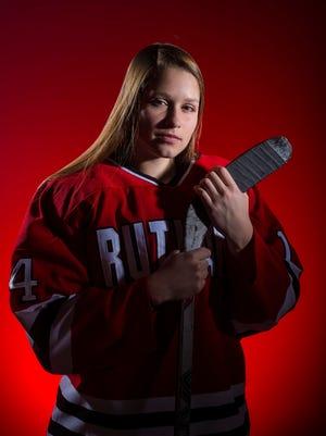 Miss Hockey 2018 Meghan Hamilton of Rutland High School. Seen in Burlington on Tuesday, April 3, 2018.