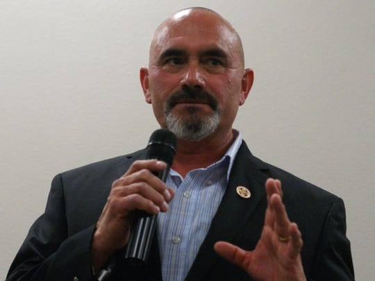 Mayor Benny Jasso at the Feb. 22 candidates' forum.
