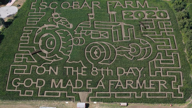 The Escobar Farm Corn Maze is back for its 21st year with a nod to local farmers, who have been hit hard by the coronavirus pandemic.
